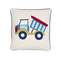 Trucks Applique Throw Pillow