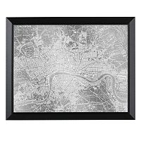 Head West London Map Framed Wall Art