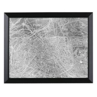 Head West Paris Map Framed Wall Art