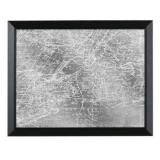Head West New York City Map Framed Wall Art