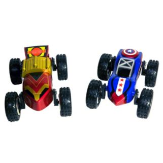 Marvel Iron Man and Captain America Transforming Cars
