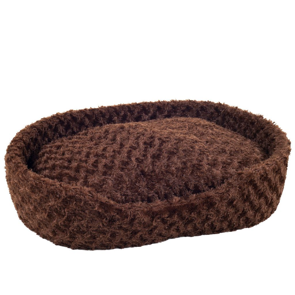 PAW Cuddle Round Plush Pet Bed - 18 1/2'' x 27 1/2''