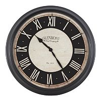 Decor Therapy Black Glenmont Wall Clock