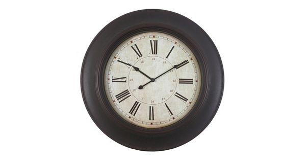 Decor Therapy Roman Numeral Wall Clock
