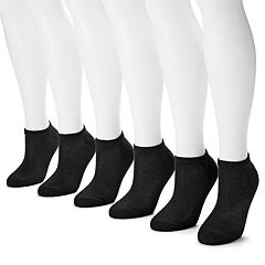Hanes 6-pk. Ultimate Core No-Show Socks - Women
