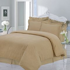 Luxury Flannel Solid 3-pc. Duvet Cover Set - Queen