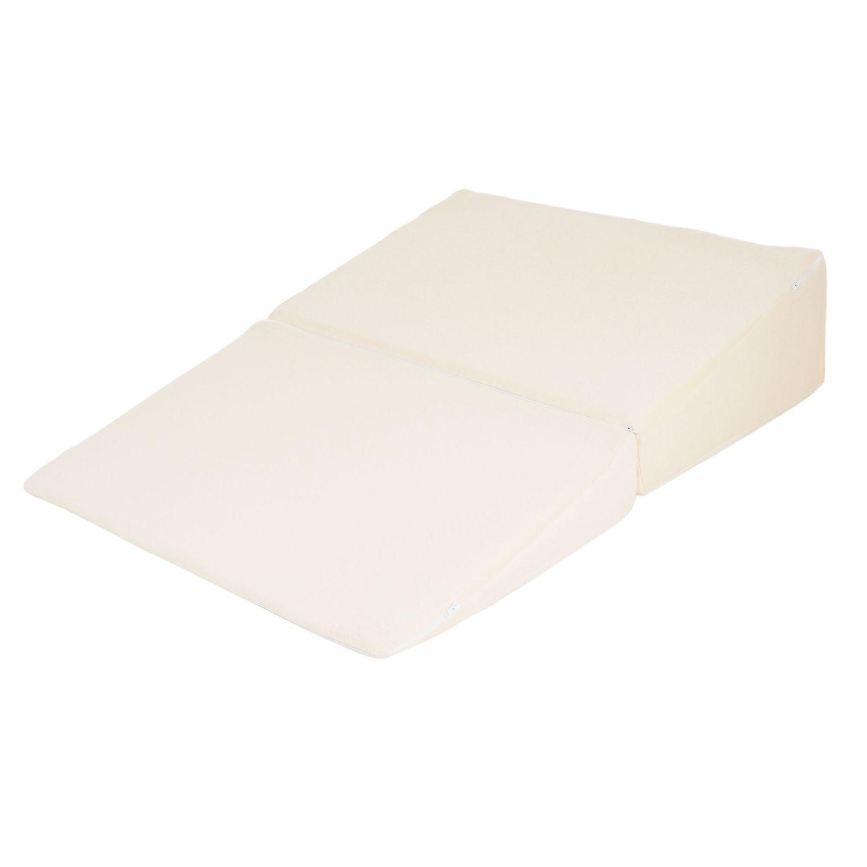 natural pedic folding wedge memory foam pillow