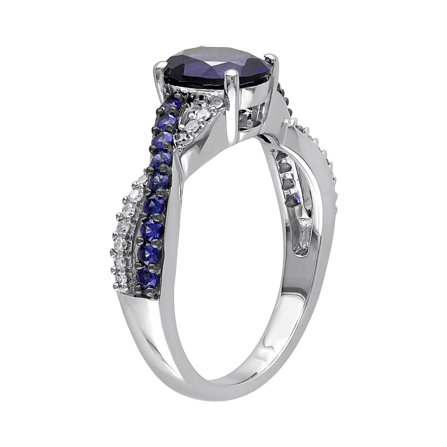 in sapphire cut watch sterling over ring gold tcw engagement lab s created emerald men rings silver
