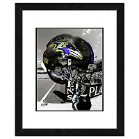 Baltimore Ravens Team Helmet Framed 11