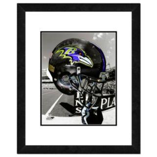 """Baltimore Ravens Team Helmet Framed 11"""" x 14"""" Photo"""