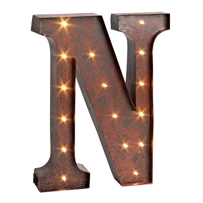 Letter n led lighted wall decor for Letter n decorations