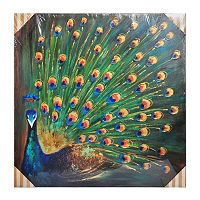 Bombay™ ''Green Peacock'' Canvas Wall Art