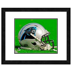 Carolina Panthers Team Helmet Framed 11' x 14' Photo