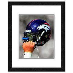 Denver Broncos Team Helmet Framed 11' x 14' Photo