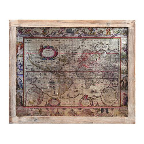 Old map wall decor : Bombay antique map wall decor