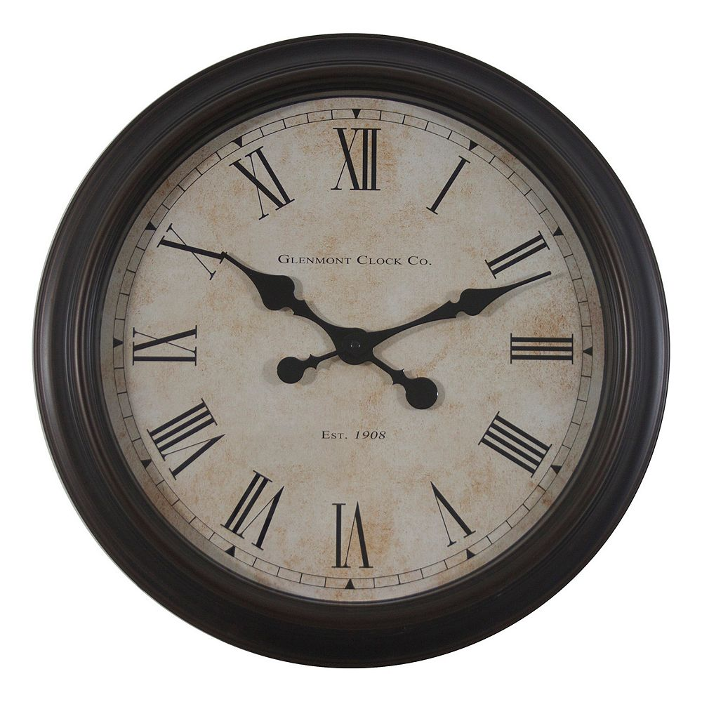 Therapy global glenmont wall clock decor therapy global glenmont wall clock amipublicfo Choice Image