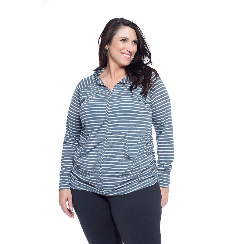 Soybu Alyse Full-Zip Burnout Hoodie - Women's Plus Size (Black)
