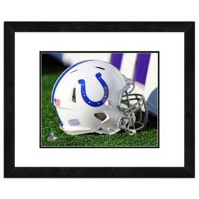 """Indianapolis Colts Team Helmet Framed 11"""" x 14"""" Photo"""