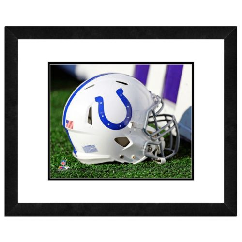 Indianapolis Colts Team Helmet Framed 11 x 14 Photo