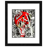 Kansas City Chiefs Team Helmet Framed 11