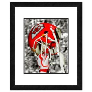 "Kansas City Chiefs Team Helmet Framed 11"" x 14"" Photo"