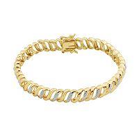 1/5 Carat T.W. Diamond 18k Gold Over Silver Tennis Bracelet
