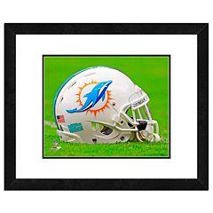 Miami Dolphins Team Helmet Framed 11' x 14' Photo