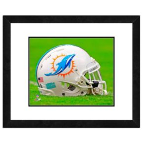 "Miami Dolphins Team Helmet Framed 11"" x 14"" Photo"