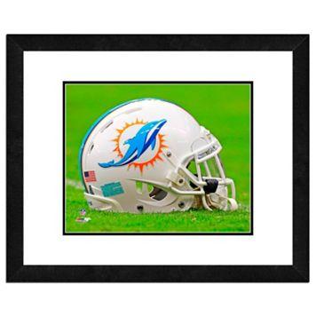 Miami Dolphins Team Helmet Framed 11