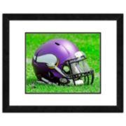 "Minnesota Vikings Team Helmet Framed 11"" x 14"" Photo"