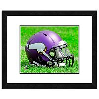 Minnesota Vikings Team Helmet Framed 11