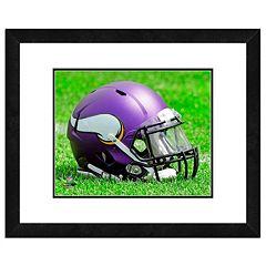 Minnesota Vikings Team Helmet Framed 11' x 14' Photo