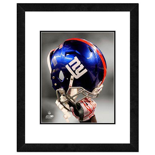 New York Giants Team Helmet Framed 11 x 14 Photo