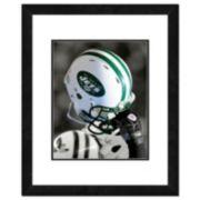 """New York Jets Team Helmet Framed 11"""" x 14"""" Photo"""