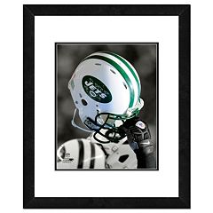 New York Jets Team Helmet Framed 11' x 14' Photo