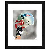 New England Patriots Team Helmet Framed 11