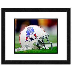 New EnglandPatriots Team Helmet Framed 11' x 14' Photo