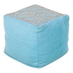 Artisan Weaver Geometric Pouf