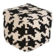 18'' x 18'' Artisan Weaver Geometric Pouf