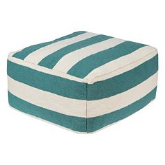 Artisan Weaver 24'' x 24'' Striped Pouf