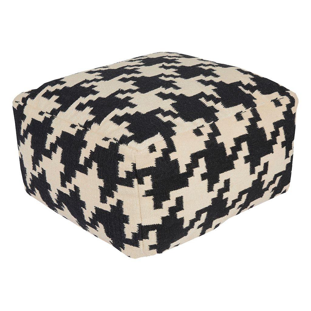 24'' x 24'' Artisan Weaver Geometric Pouf