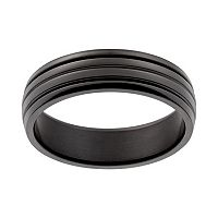 Black Ion-Plated Titanium Stripe Band - Men