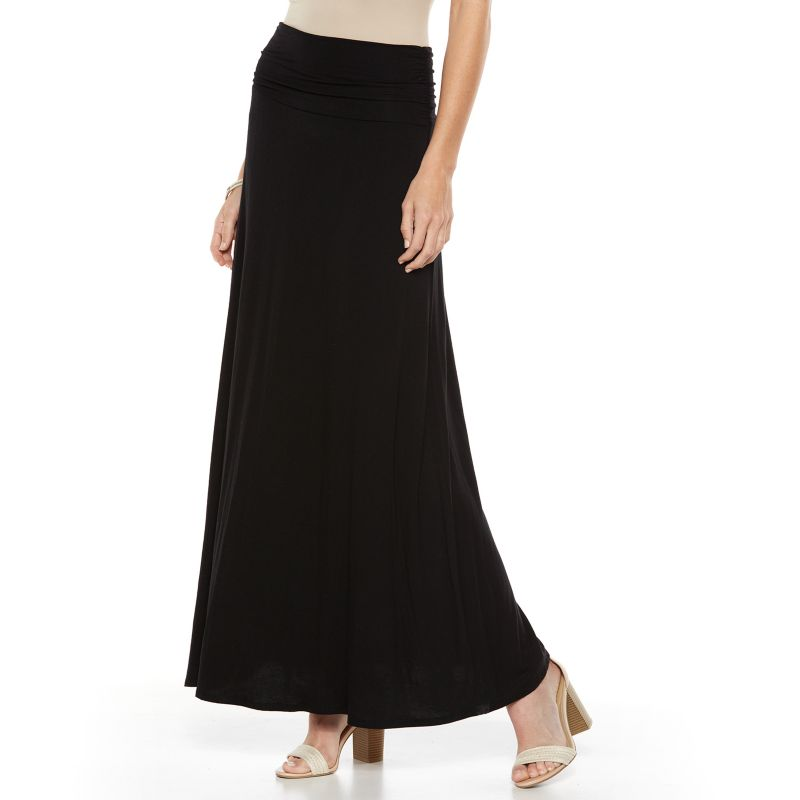 ab studio ruched maxi skirt s size