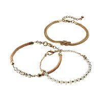 LC Lauren Conrad Bead & Knot Bracelet Set