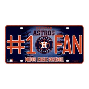 Houston Astros #1 Fan Metal License Plate