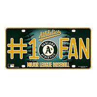 Oakland Athletics #1 Fan Metal License Plate