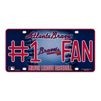 Atlanta Braves #1 Fan Metal License Plate