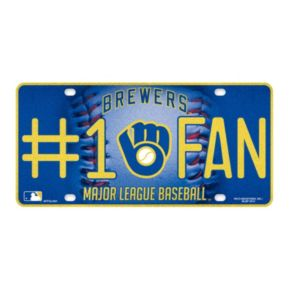 Milwaukee Brewers #1 Fan Metal License Plate