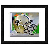 New Orleans Saints Team Helmet Framed 11