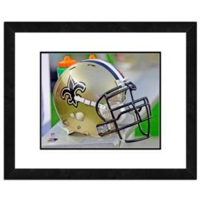 "New Orleans Saints Team Helmet Framed 11"" x 14"" Photo"